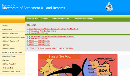 Goa Land Records survey plan
