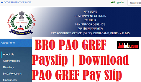 (Monthly Slip) BRO PAO GREF Payslip 2021: BRO Monthly pay slip paogref.nic.in