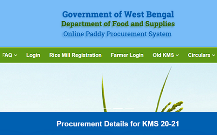 (Farmer Registration) WB Kharif Paddy Procurement Scheme 2021 procurement.wbfood.in