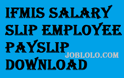 ifms pay slip download